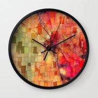 butterfly Wall Clocks featuring Butterfly   by Aloke Design
