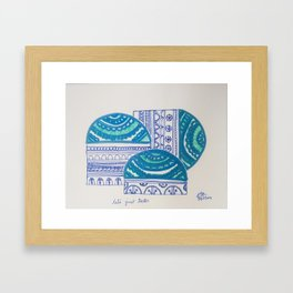 Let's just teeter Framed Art Print