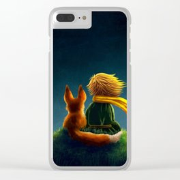 little prince and the fox Clear iPhone Case
