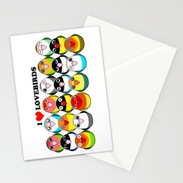 Lovebird colour mutations Stationery Cards
