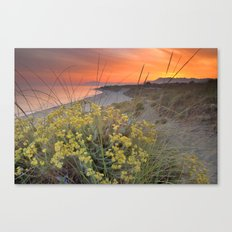 Magical red sunset at the sea Canvas Print