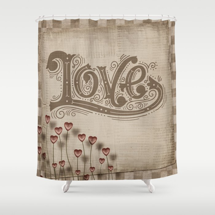 Rustic Floral Shower Curtain by folknfunky | Society6