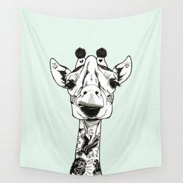 Giraffe Tattooed Wall Tapestry