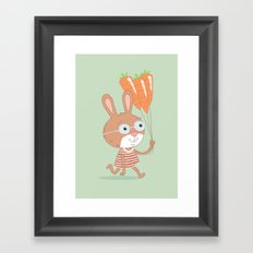 Happy Bunny Framed Art Print