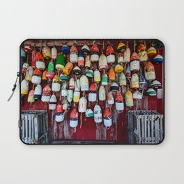 Old Lobster-Crab Fishing Trap Buoys Laptop Sleeve