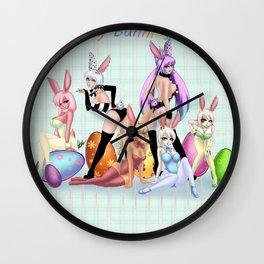 Play Bunnies Wall Clock