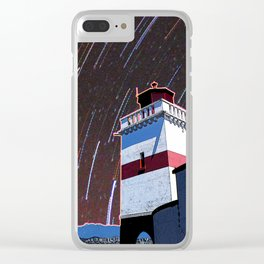 Brockton Point Lighthouse Stars Clear iPhone Case