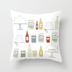 in the pantry Throw Pillow
