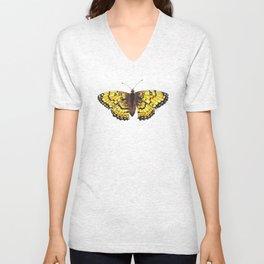 Fritillary Butterfly Unisex V-Neck
