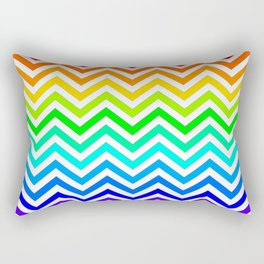 Raibow pattern lines Rectangular Pillow