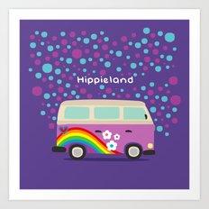 Hippie Land Art Print