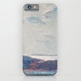 Classical Masterpiece 'New England Coast' by Frederick Childe Hassam iPhone Case