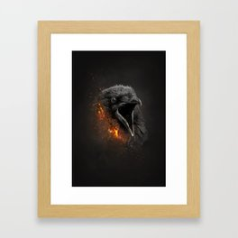 XTINCT x Raven Framed Art Print