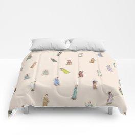 Jane Austen characters - Peach Comforters