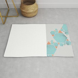Geometric Hexagons and Triangles Rug