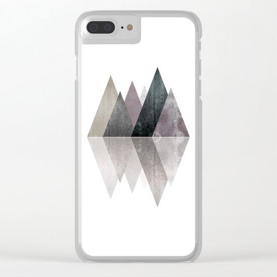 Modern Scandinavian Mountain Clear iPhone Case