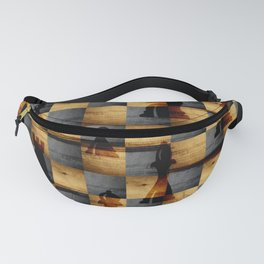 Wooden Chessboard and Chess Pieces  pattern Fanny Pack