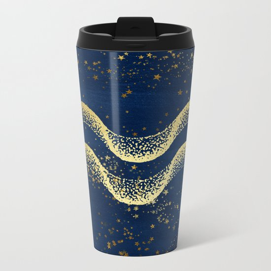 Aquarius Zodiac Sign Metal Travel Mug