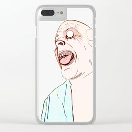 The Maniac With Wild Eyes Clear iPhone Case