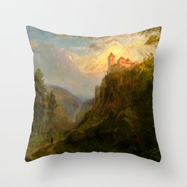 """Frederic Church """"The Monastery of San Pedro (Our Lady of the Snows)"""" Throw Pillow"""