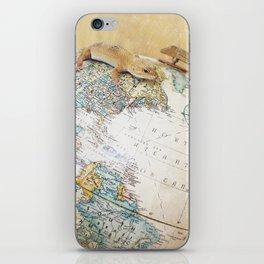 Globe-Trotting Gecko iPhone Skin