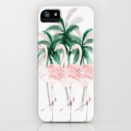 Three Flamingos iPhone Case