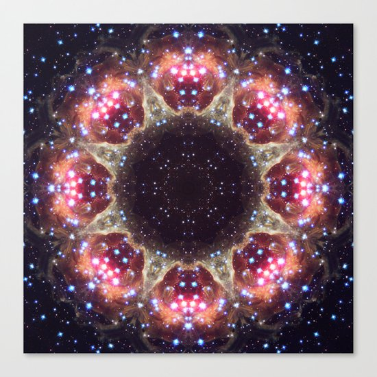 Space Mandala no6 Canvas Print