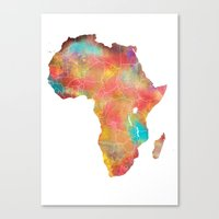africa Canvas Prints featuring Africa by jbjart
