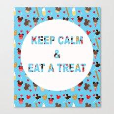KEEP CALM & EAT A TREAT Canvas Print