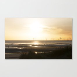 Sunset in Cosby beach Canvas Print