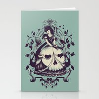 death Stationery Cards featuring Mrs. Death by Enkel Dika