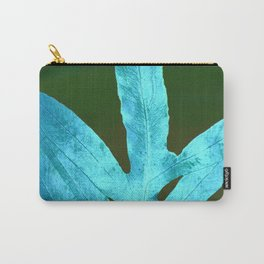 Autumn Leaves Blue and Cold Fall to the Ground Carry-All Pouch