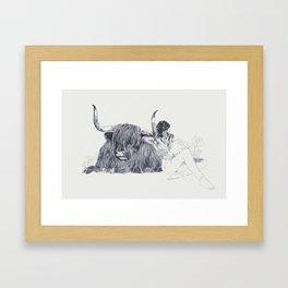 A Wandering Bull (Taurus) Framed Art Print