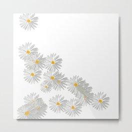 Flower white minimal Metal Print