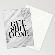 Get Shit Done Stationery Cards