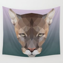 Polygon Puma Wall Tapestry
