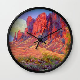 Superstitions Fantasy by Amanda Martinson Wall Clock