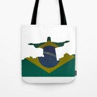 brazil Tote Bags featuring Brazil by Jimbob1979