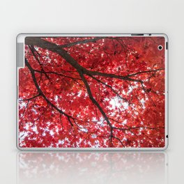 blazing red Laptop & iPad Skin