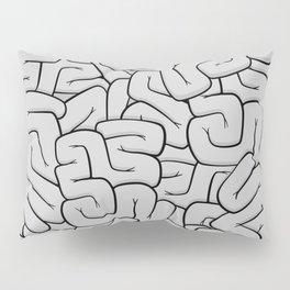 Guts or Brains - Grey Pillow Sham
