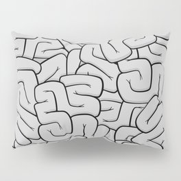 Guts or Brains - Grey Pillow Sham