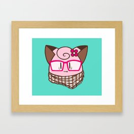 Hipster Clefairy Framed Art Print