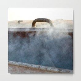 burning Metal Print