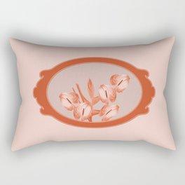 Anthurium Flowers in Frame Rectangular Pillow