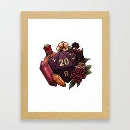 Sorcerer Class D20 - Tabletop Gaming Dice Framed Art Print