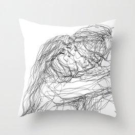 make-out? (B & W) Throw Pillow