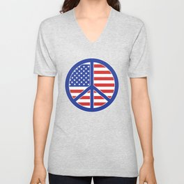 Peace in America Unisex V-Neck