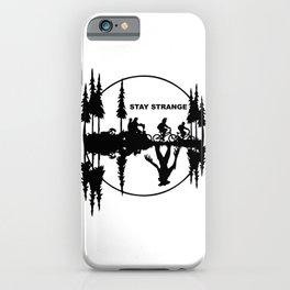 Stay Strange black iPhone Case