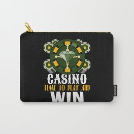 Casino Gambling Roulette Poker Risk Carry-All Pouch