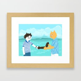 Call me by your name - Handshake Framed Art Print